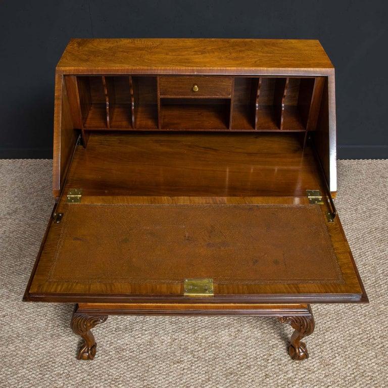 English 18th Century Style Walnut Bureau For Sale