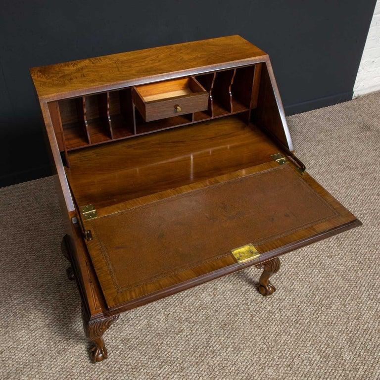 Polished 18th Century Style Walnut Bureau For Sale