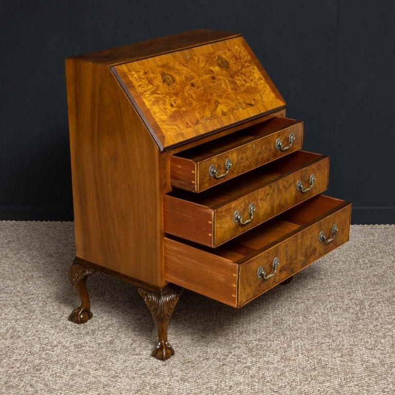 Mid-20th Century 18th Century Style Walnut Bureau For Sale