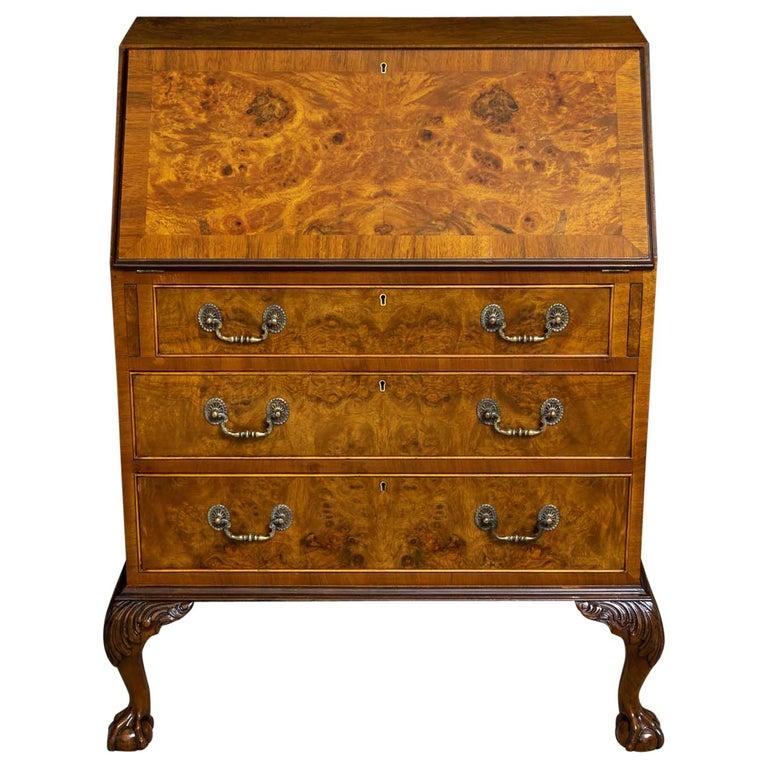 18th Century Style Walnut Bureau For Sale