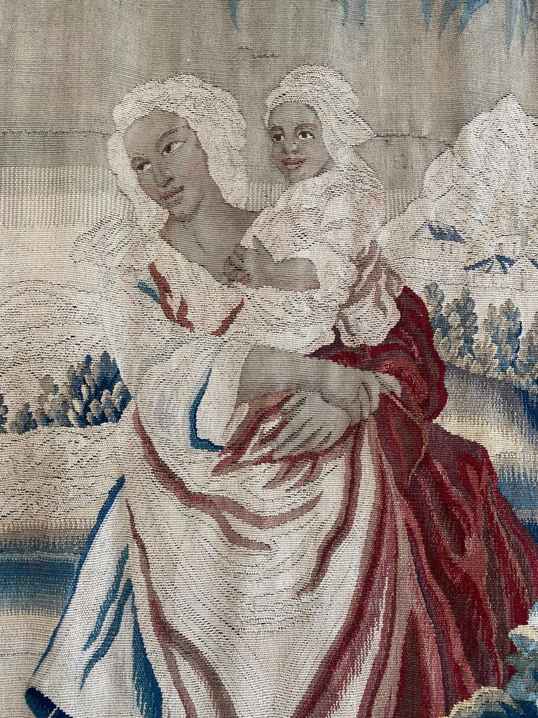 Hand-Knotted 18th Century Sublime Royal Manufacture of Aubusson Tapestry, Louis XVI Period For Sale