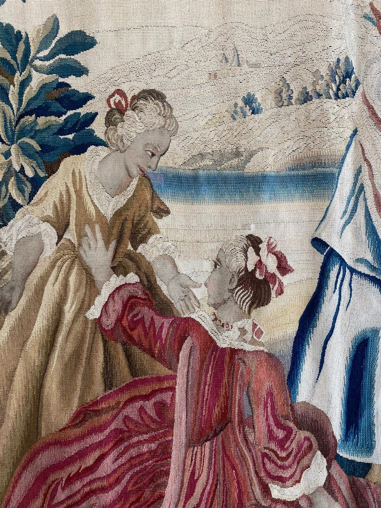 18th Century Sublime Royal Manufacture of Aubusson Tapestry, Louis XVI Period In Excellent Condition For Sale In Paris, Ile de France