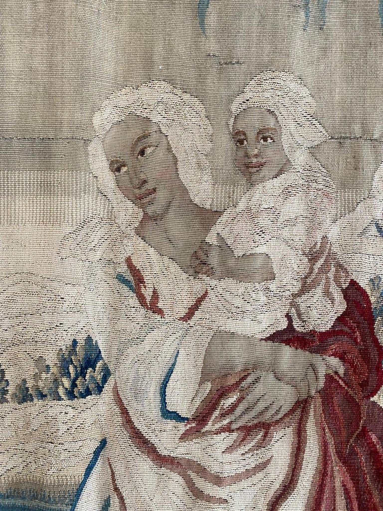 18th Century and Earlier 18th Century Sublime Royal Manufacture of Aubusson Tapestry, Louis XVI Period For Sale