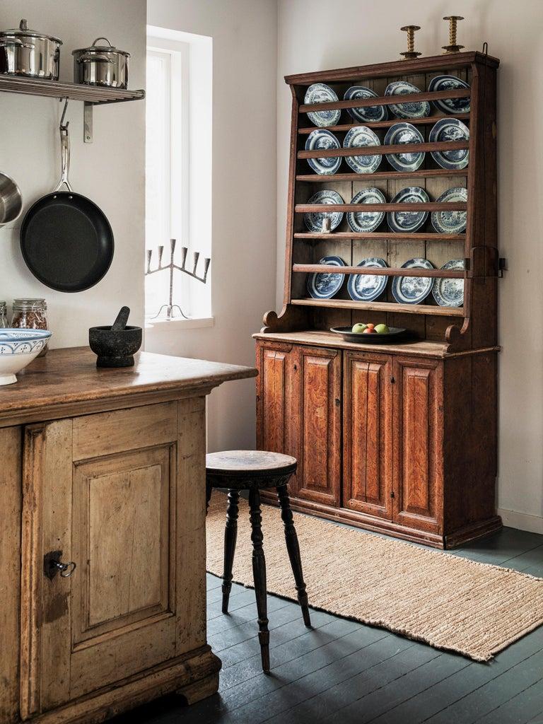 Pine 18th Century Swedish Baroque Buffet For Sale