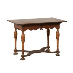 18th Century Swedish Baroque Carved Wood Occasional Table