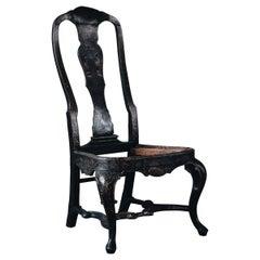 18th Century Swedish Baroque Chinoiserie Chair