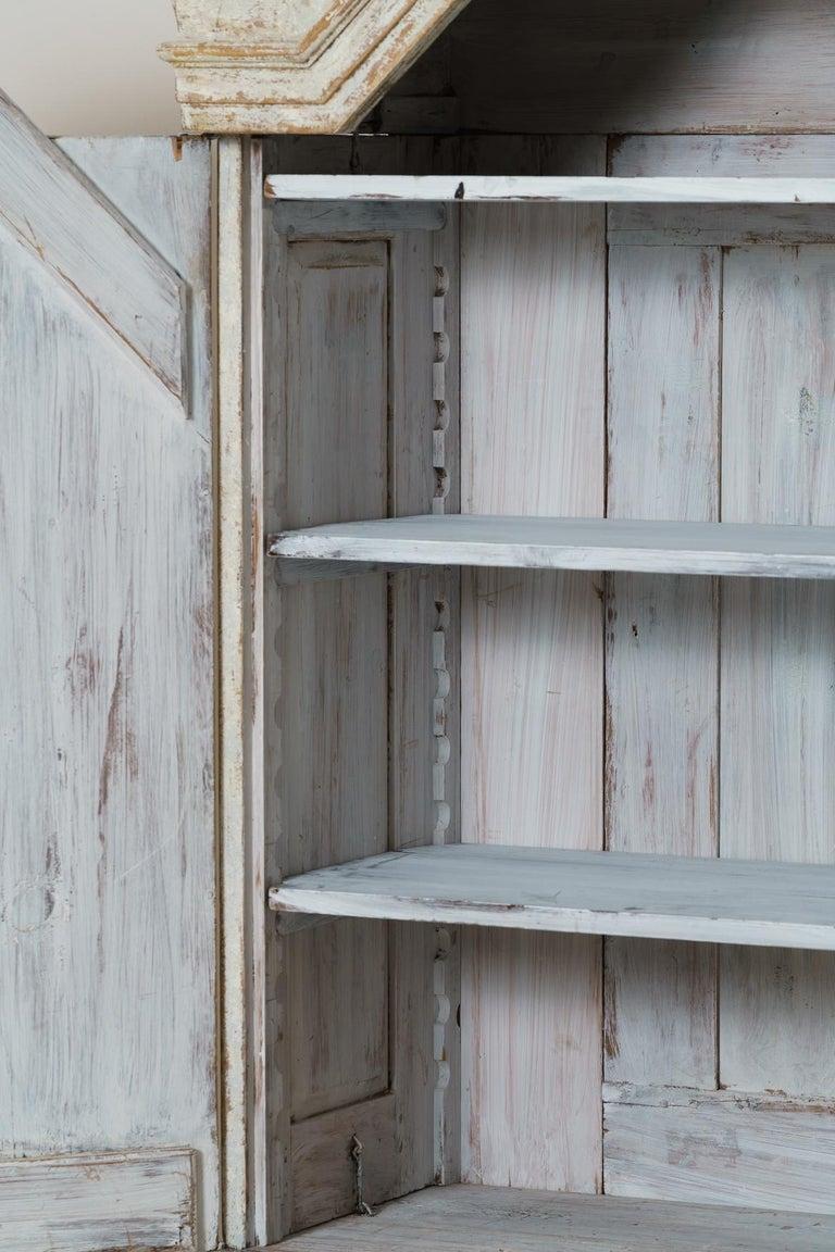 18th Century Swedish Baroque Period Linen Press Armoire Cabinet For Sale 5