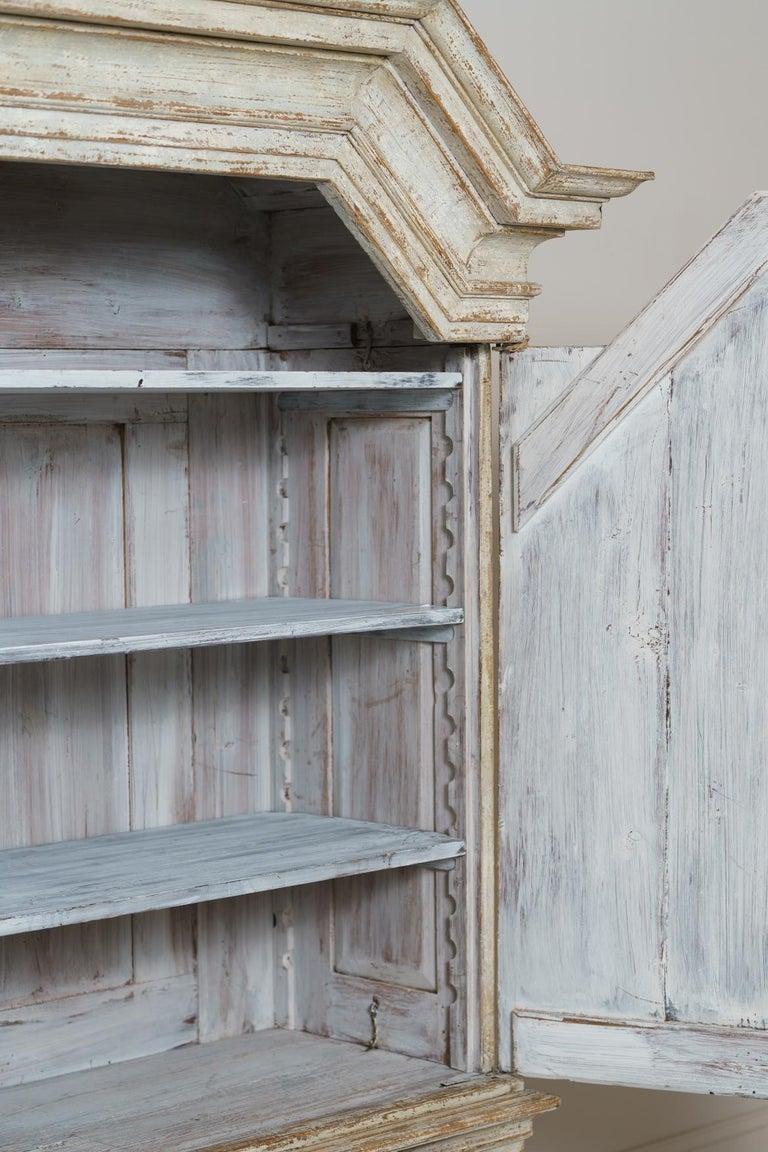 18th Century Swedish Baroque Period Linen Press Armoire Cabinet For Sale 6