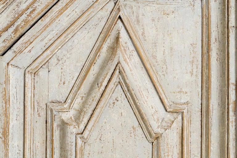 18th Century Swedish Baroque Period Linen Press Armoire Cabinet In Good Condition For Sale In Wichita, KS