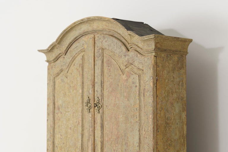 18th Century Swedish Baroque Period Secretary with Library in Original Paint For Sale 4