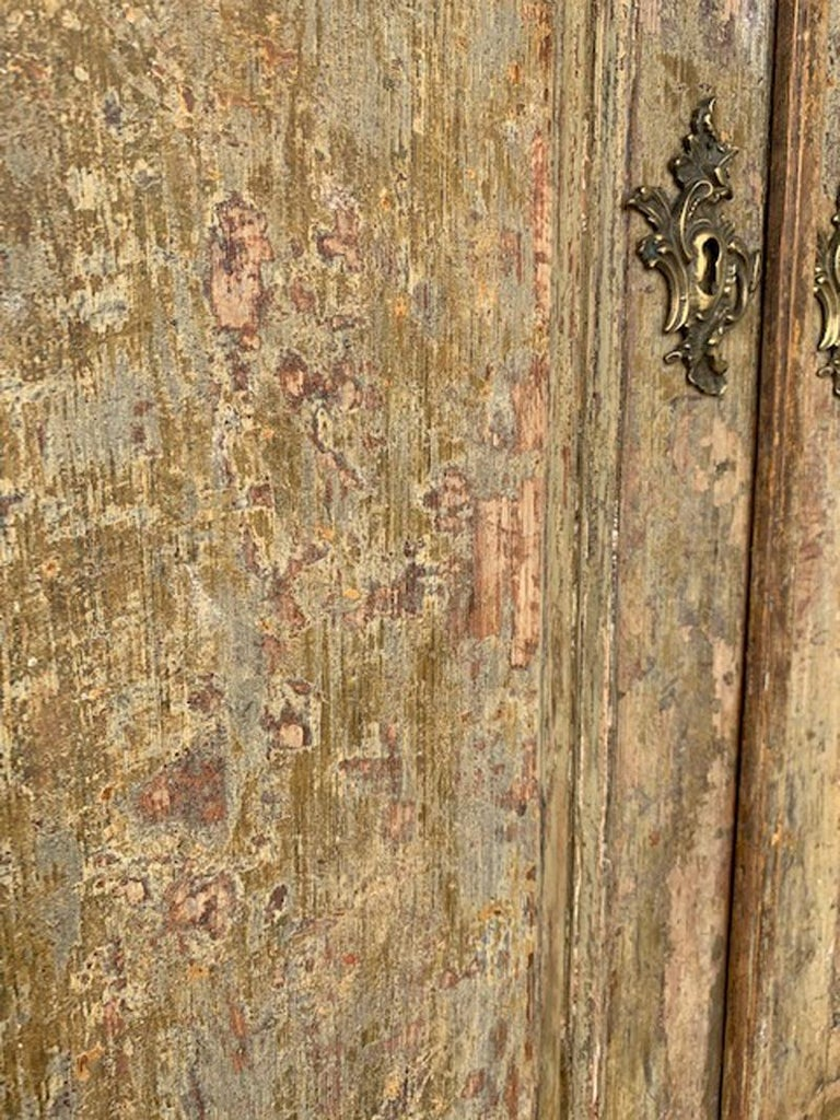 18th Century Swedish Baroque Period Secretary with Library in Original Paint For Sale 14