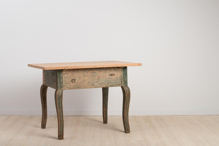 Pine 18th Century Swedish Baroque Table For Sale