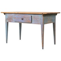 18th Century Swedish Blue Country Side Table