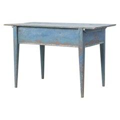 18th Century Swedish Blue Gustavian Desk