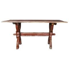 18th Century Swedish Bock Board X Frame Table