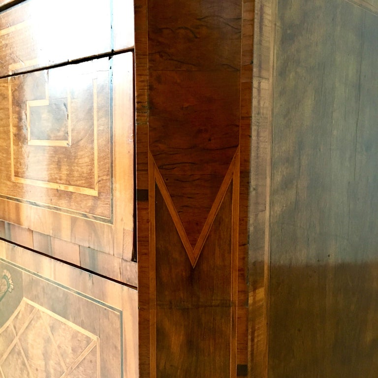 18th Century Swedish Chest of Drawers with Greek Key Detail For Sale 6