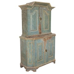 18th Century Swedish Cupboard with Original Paint