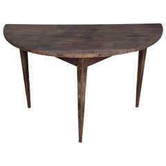 18th Century Swedish Demilune Table