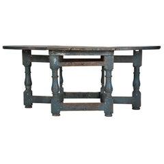 18th Century Swedish Drop-Leaf Dining Table