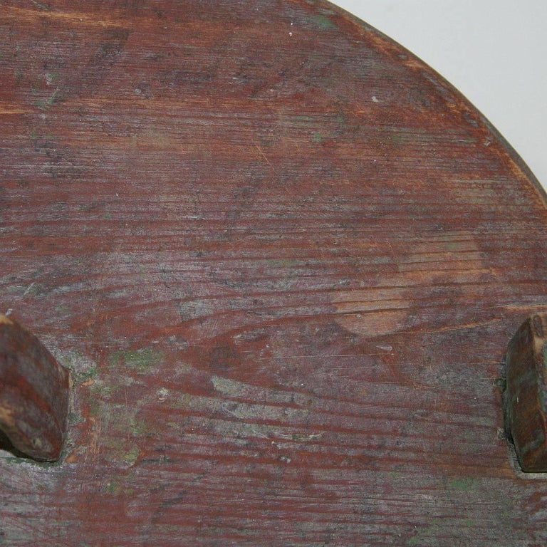 18th Century Swedish Folk Art Painted Bentwood Box For Sale 11