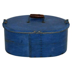 18th Century Swedish Folk Art Painted Bentwood Box