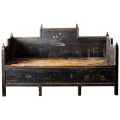 18th Century Swedish Folk Art Sofa