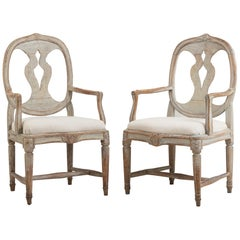 18th Century Swedish Gustavian Armchairs in the 'Swedish Model'