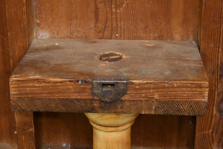 18th Century Swedish Gustavian Burl Birch Tilt-Top Square Table on Pedestal Base For Sale 8