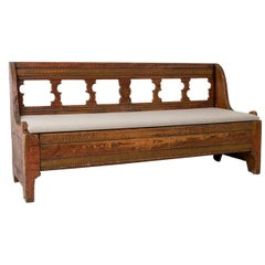 18th Century Swedish Gustavian Country Bench