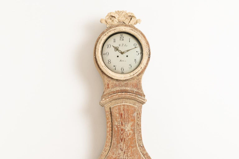 Hand-Crafted 18th Century Swedish Gustavian Long Case Clock For Sale