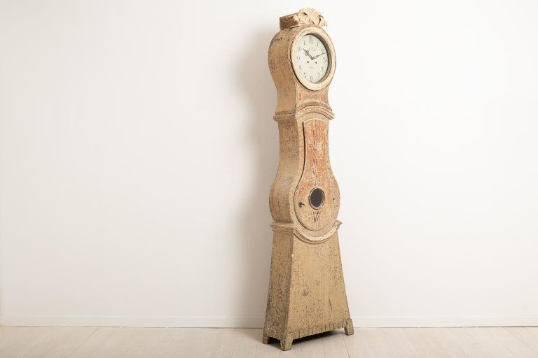 18th Century Swedish Gustavian Long Case Clock For Sale 1