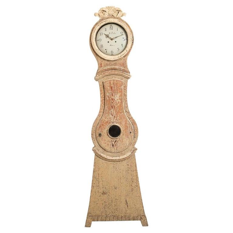 18th Century Swedish Gustavian Long Case Clock For Sale