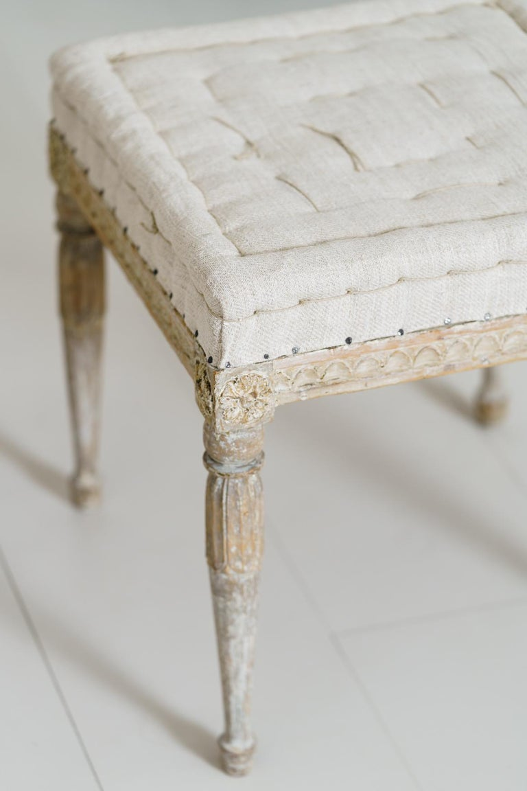 18th Century Swedish Gustavian Pair of Foot Stools or Benches in Original Paint For Sale 11