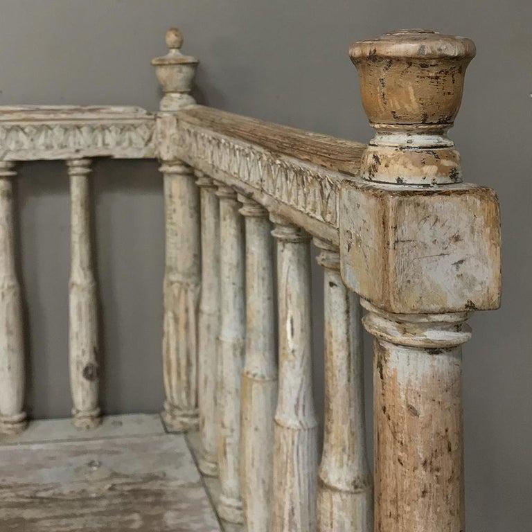 18th Century Swedish Gustavian Period Day Bed, Hall Bench, circa 1790 6