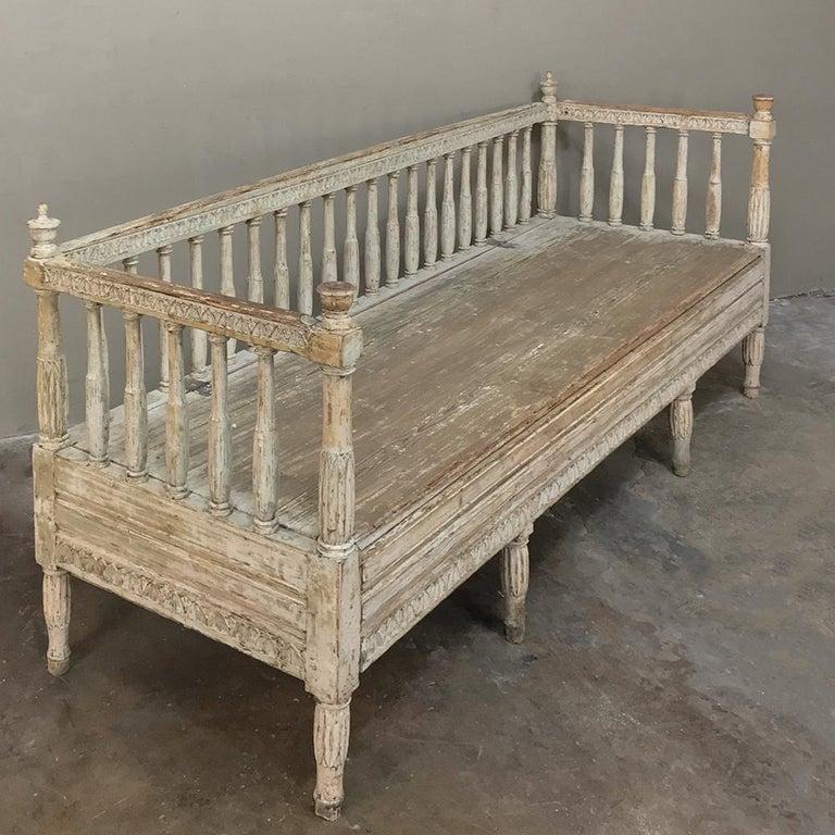 18th Century Swedish Gustavian Period Day Bed, Hall Bench, circa 1790 8