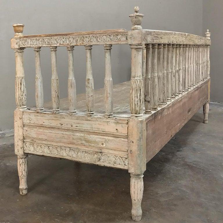 18th Century Swedish Gustavian Period Day Bed, Hall Bench, circa 1790 9
