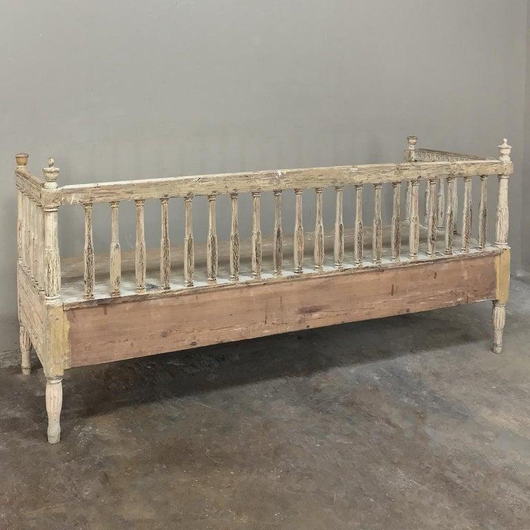 18th Century Swedish Gustavian Period Day Bed, Hall Bench, circa 1790 11