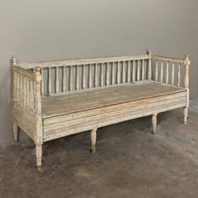 Late 18th Century 18th Century Swedish Gustavian Period Day Bed, Hall Bench, circa 1790