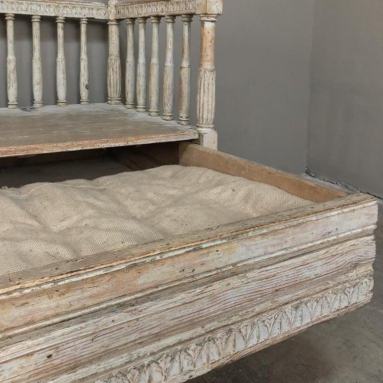 18th Century Swedish Gustavian Period Day Bed, Hall Bench, circa 1790 1