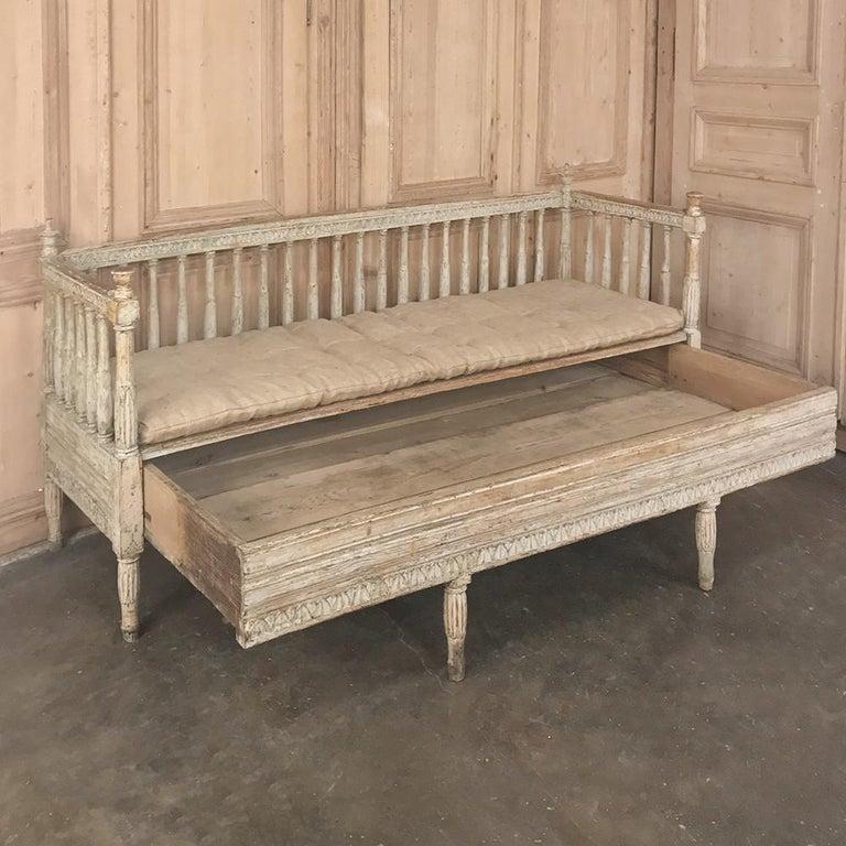 18th Century Swedish Gustavian Period Day Bed, Hall Bench, circa 1790 2