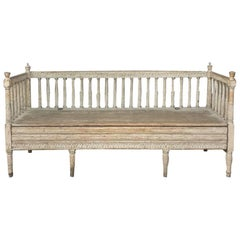 18th Century Swedish Gustavian Period Day Bed, Hall Bench, circa 1790
