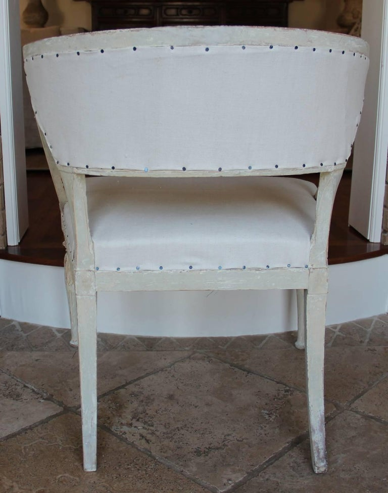 18th Century and Earlier 18th Century Swedish Gustavian Period Original Paint Chair Signed Ephraim Stahl For Sale