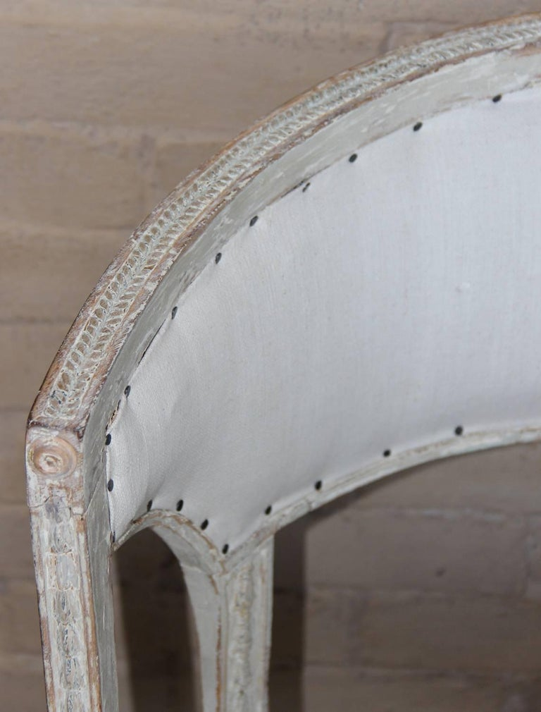 18th Century Swedish Gustavian Period Original Paint Chair Signed Ephraim Stahl For Sale 2