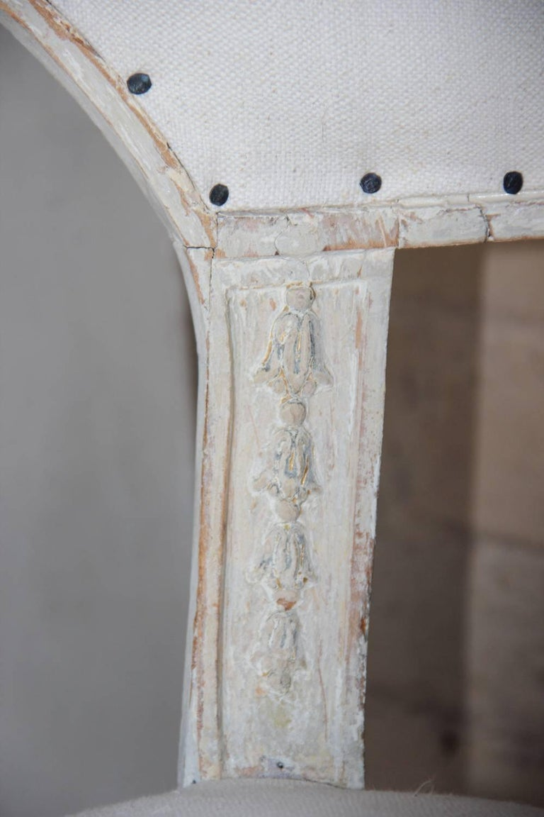 18th Century Swedish Gustavian Period Original Paint Chair Signed Ephraim Stahl For Sale 3