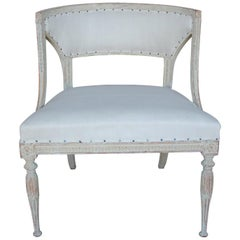 18th Century Swedish Gustavian Period Original Paint Chair Signed Ephraim Stahl