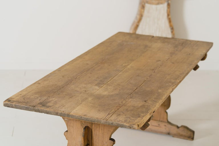 18th Century Swedish Gustavian Period Trestle Table For Sale 4