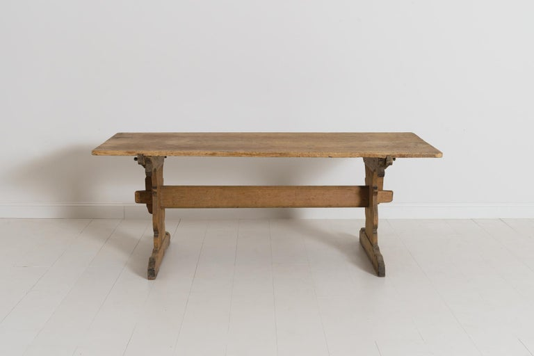18th Century Swedish Gustavian Period Trestle Table For Sale 7