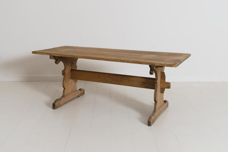 18th Century and Earlier 18th Century Swedish Gustavian Period Trestle Table For Sale