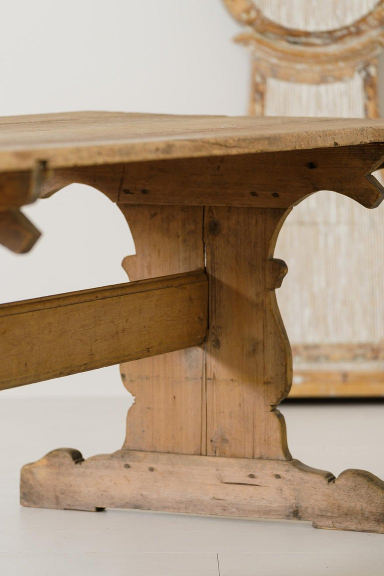 18th Century Swedish Gustavian Period Trestle Table For Sale 3