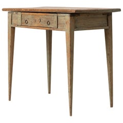 18th Century Swedish Gustavian Pine Side Table